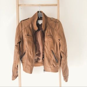 Xhilaration Faux-Leather Bomber Jacket